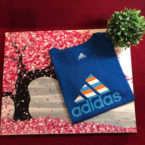 Adidas Badge of Sport Tee in Blue Size Small
